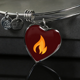 LiVit BOLD Orange Flame Heart Shaped Luxury Necklace & Bangle - LiVit BOLD