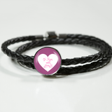 "LiVit BOLD Woven Leather Charm Bracelet - ""To Mom with Love"" - LiVit BOLD"