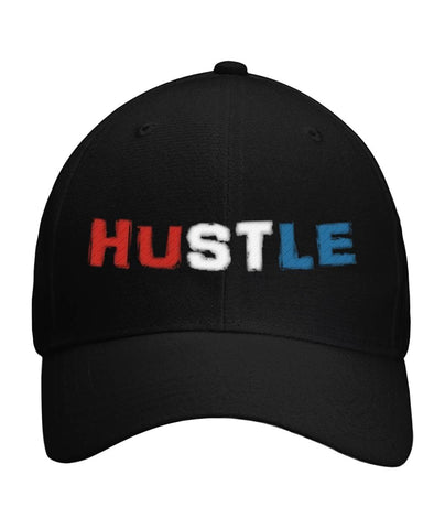 Hustle Dad Hat in American Flag Colors - LiVit BOLD Curved Bill Velcro Strap - LiVit BOLD