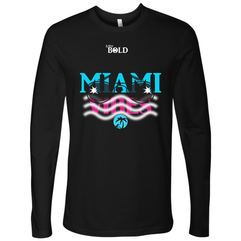 Miami Vibes Long Sleeves Men's Top - LiVit BOLD