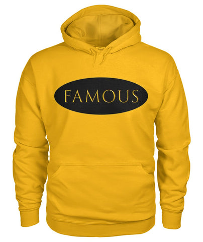 FAMOUS - Gold Unisex Hoodie by LiVit BOLD Unisex Hoodie