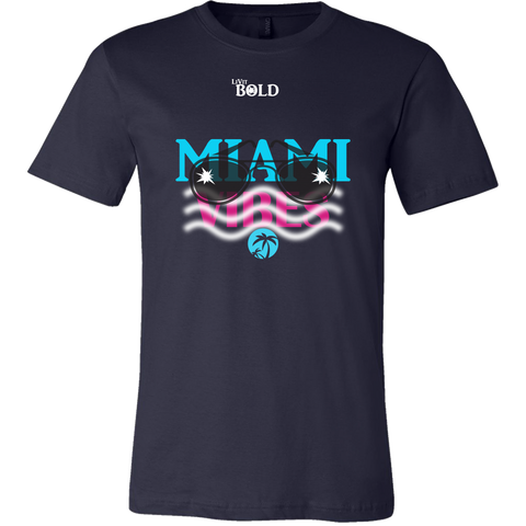 Miami Vibes Short Sleeve Men's T-Shirt - LiVit BOLD - 5 Colors - LiVit BOLD