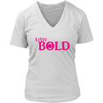 LiVit BOLD District Women's V-Neck Shirt Hot Pink - LiVit BOLD