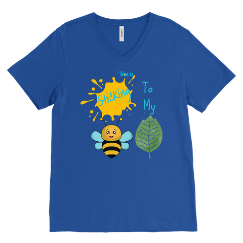Sticking To My (Bee-Leaf) Belief - Men's V-Neck T-Shirt - LiVit BOLD - 7 Colors - LiVit BOLD