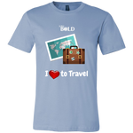 LiVit BOLD Canvas Men's Shirt - I love to Travel - LiVit BOLD