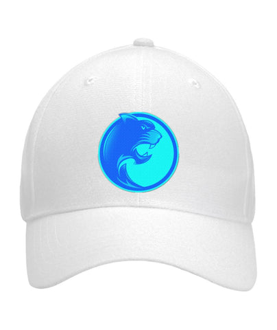 Pantherlete Athletics Hat - White  Curved Bill Velcro Strap - LiVit BOLD