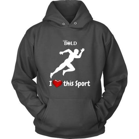 LiVit BOLD Men's Hoodies - I Heart this Sport - Track & Field - LiVit BOLD