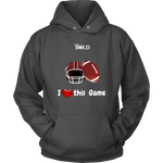 LiVit BOLD Men & Women Hoodies --- I Heart This Game - Football - LiVit BOLD