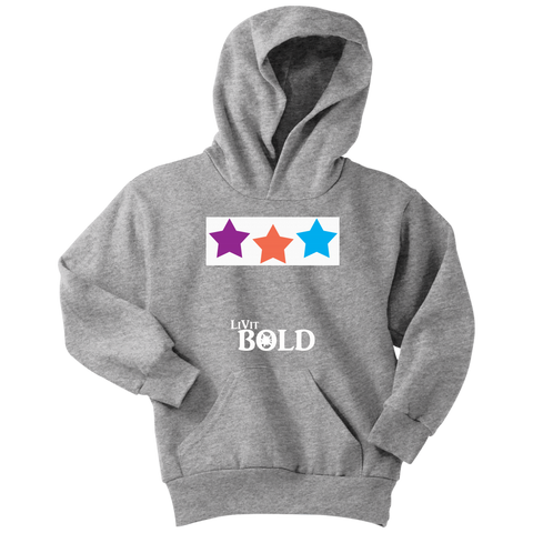 Stars Youth Hoodie - 11 Colors - LiVit BOLD