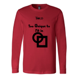 Too Unique To Fit In Men's Long Sleeve Top - LiVit BOLD - LiVit BOLD
