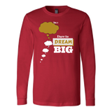Dare To Dream BIG Two Tone - Men's Long Sleeve T-Shirt - 6 Colors - LiVit BOLD