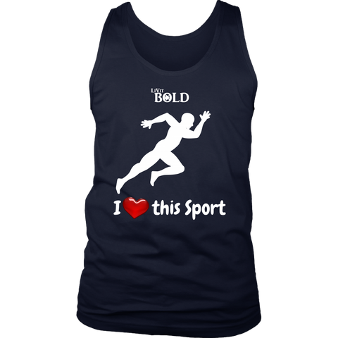 LiVit BOLD District Men's Tank - I Heart this Game - Track & Field - LiVit BOLD