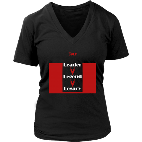 Leader.Legend.Legacy Women's V-Neck Top - 4 Colors - LiVit BOLD - LiVit BOLD