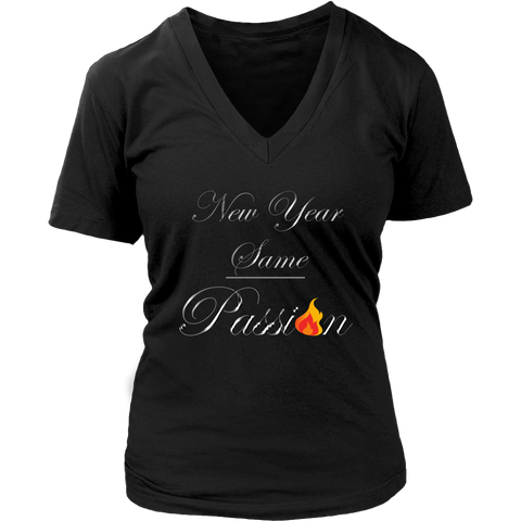 New Year Same Passion Women's V-Neck T-Shirt - LiVit BOLD - 6 Colors - LiVit BOLD