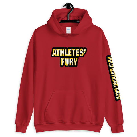 Athletes' Fury - Hold Nothing Back - Unisex Hoodie - Red - LiVit BOLD