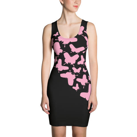Pink Butterflies Sublimation Cut & Sew Dress - LiVit BOLD