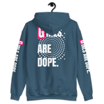 Girls Are Dope Hoodie with Front, Back and Sleeves Print - 7 Colors - LiVit BOLD