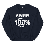 Give It 100% Unisex Sweatshirt - 9 Colors - LiVit BOLD