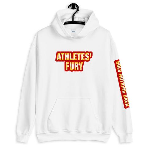 Athletes' Fury - Hold Nothing Back - Unisex Hoodie - White - LiVit BOLD
