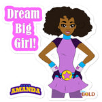 Star Amanda - Dream Big Girl! - Bubble-free stickers - LiVit BOLD