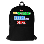 The World Needs My Gift Backpack - Black - LiVit BOLD