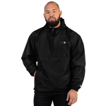 VSNINBLK Embroidered Champion Packable Jacket - Black - LiVit BOLD