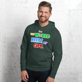 The World Needs My Gift - Version 2.0 - Unisex hoodie - 5 Colors - LiVit BOLD