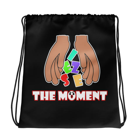 Seize The Moment Drawstring bag - Black - LiVit BOLD