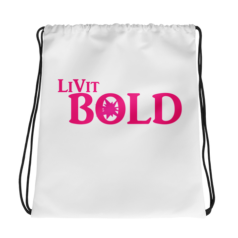 LiVit BOLD Female Drawstring bag - LiVit BOLD