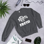 100% FRESH Unisex Sweatshirt - 9 Colors - LiVit BOLD