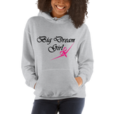 BIG DREAM GIRL - RIBBON BOW PLANE DESIGN - Hooded Sweatshirt - 2 Colors - LiVit BOLD