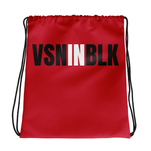VSNINBLK Drawstring bag - Red - LiVit BOLD