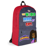 STAR AMANDA - THE WORLD NEEDS MY GIFT BACKPACK - Red Color - LiVit BOLD