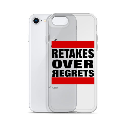 Retake Over Regrets iPhone Cases
