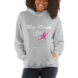 BIG DREAM GIRL - RIBBON BOW PLANE DESIGN - HOODED SWEATSHIRT - 3 COLORS - LiVit BOLD