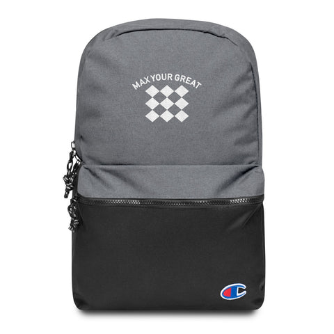 Max Your Great 2.0 Embroidered Champion Backpack - LiVit BOLD