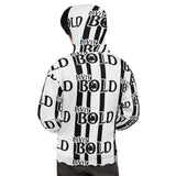 LiVit BOLD Black and White Stripes Multi-Logo Unisex Hoodie - LiVit BOLD