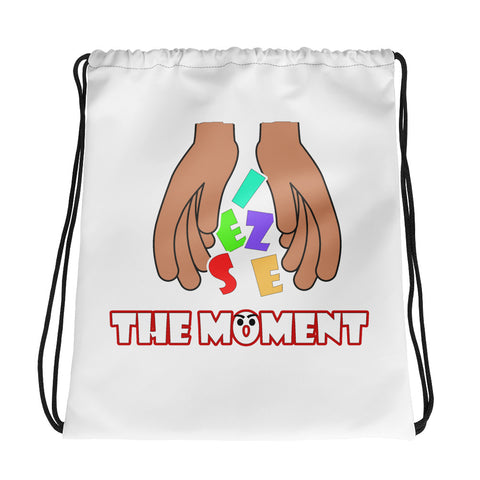 Seize The Moment Drawstring bag - White