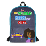 STAR AMANDA - THE WORLD NEEDS MY GIFT BACKPACK - Aqua Color - LiVit BOLD