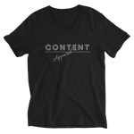 Content Apparel - Unisex Short Sleeve V-Neck T-Shirt - Black - LiVit BOLD