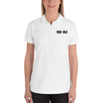 VSNINBLK Embroidered Women's Polo Shirt - White - LiVit BOLD