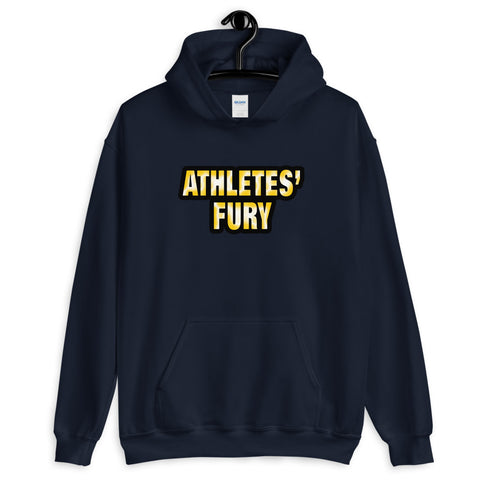 Athletes' Fury - Hold Nothing Back - Front and Back Print - Unisex Hoodie - 4 Colors