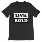 LiVit BOLD Black and White Box Short-Sleeve Unisex T-Shirt - 7 Colors - LiVit BOLD