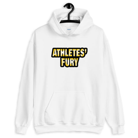 Athletes' Fury - Hold Nothing Back - Front and Back Print - Unisex Hoodie - White