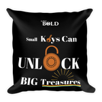 Small Keys can Unlock BIG Treasures Pillow - LiVit BOLD - LiVit BOLD