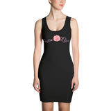 Rosa Rosa Sublimation Cut & Sew Dress - Black - LiVit BOLD
