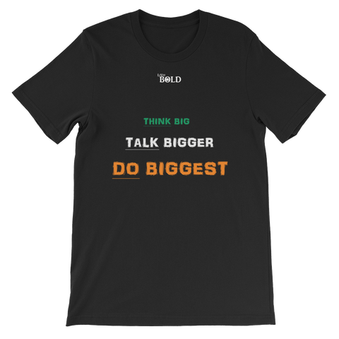 Think, Talk and Do Short-Sleeve Unisex T-Shirt - LiVit BOLD - 12 Colors