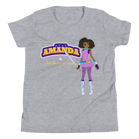 Stary Amanda & The Sword Of Light Gray Youth Short Sleeve T-Shirt - LiVit BOLD