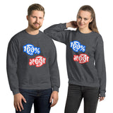 100% Double Take Unisex Sweatshirt - 7 Colors - LiVit BOLD