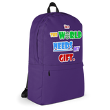 THE WORLD NEEDS MY GIFT BACKPACK - Purple - LiVit BOLD